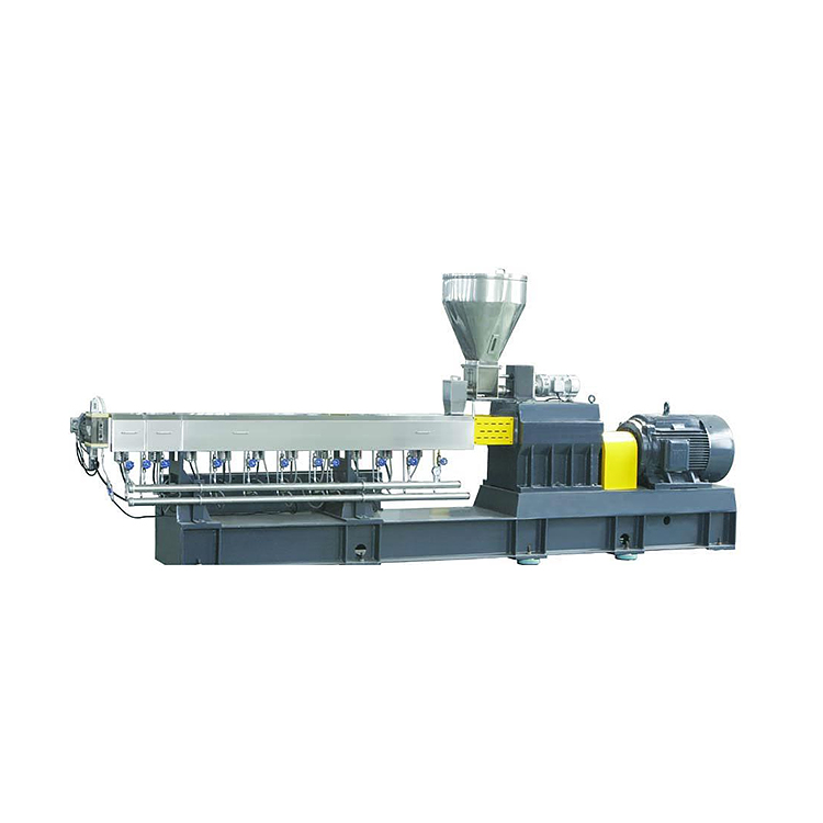 小型双螺杆挤出机生产_路隆机械_50_75_PET_PBT_板材