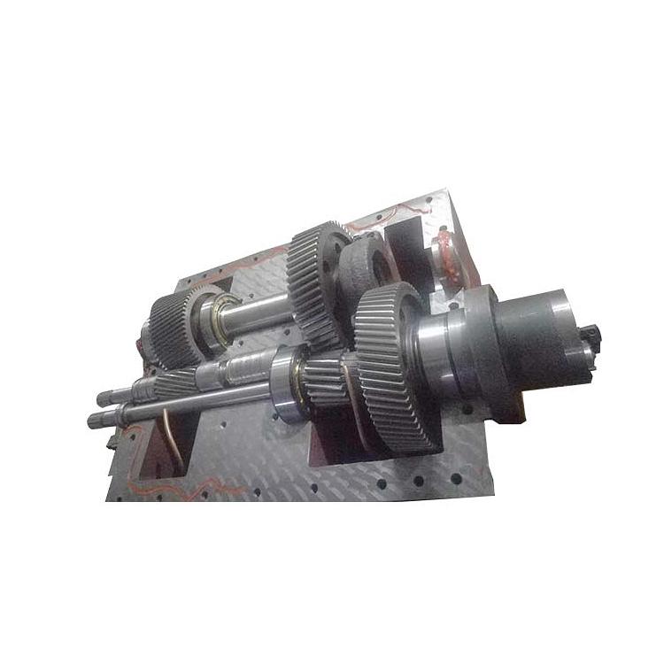 尼龍加纖雙螺桿擠出機機頭_路隆機械_EVA專用_60_加強型_路隆塑料機械制造