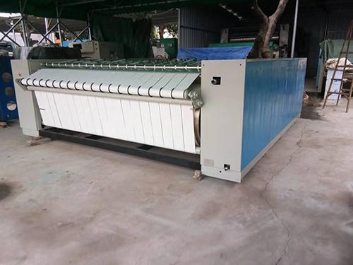 槽式燙平機報價_萬眾洗水設備_三滾_小型_3.3米_二手電加熱