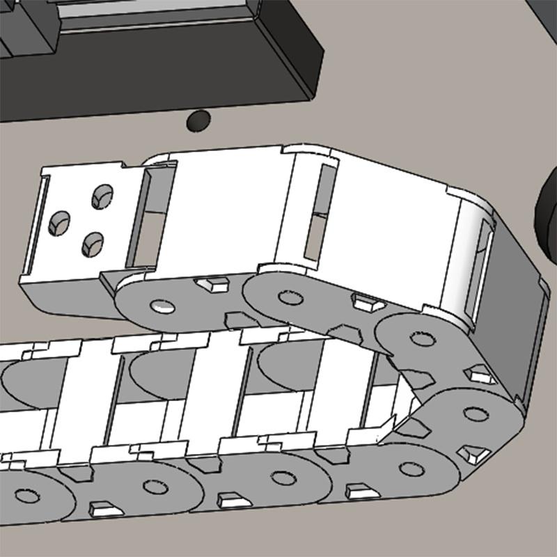 3D打印機黃點橋式拖鏈廠家直銷_明德塑膠_工業_塑料_小型_加強