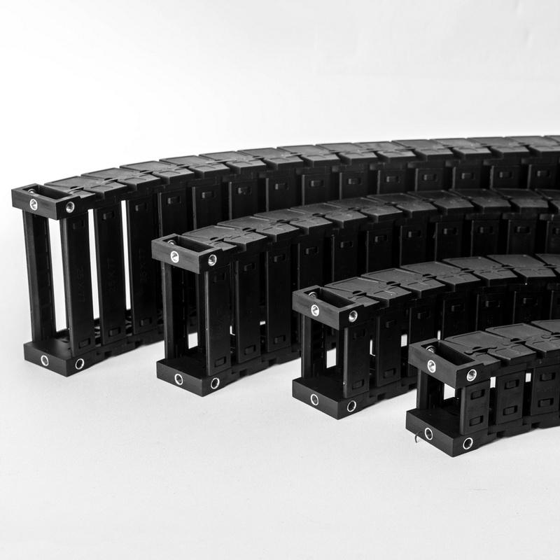 自動化橋式尼龍拖鏈定制_明德塑膠_加強_微型_密封_電纜_切割機