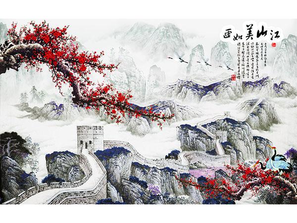 中國畫背景墻