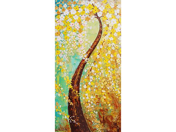 新立體油畫發財樹