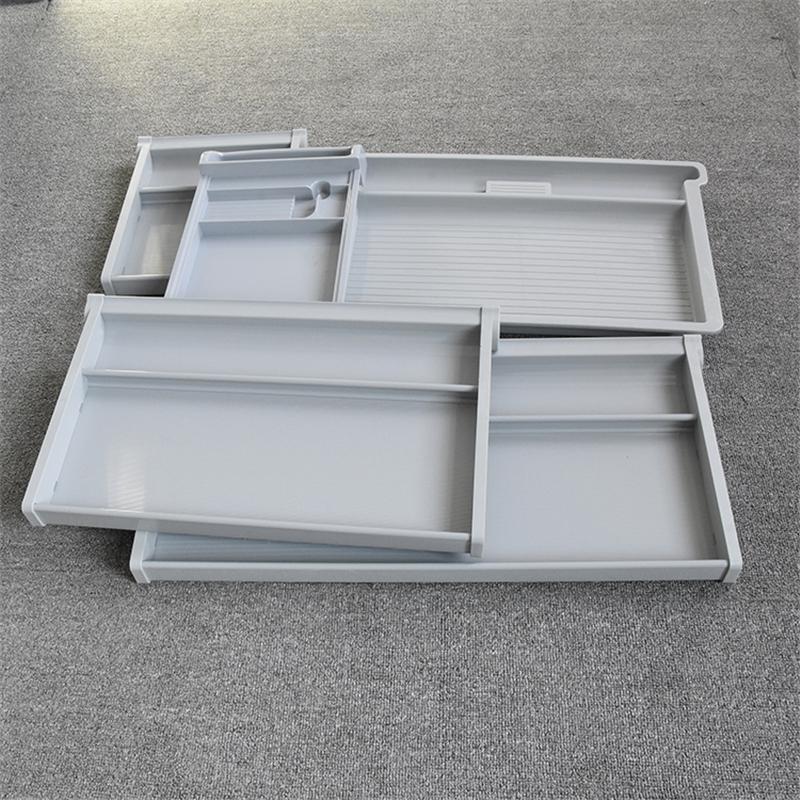 大空间塑料抽屉滑轨批发_敏源金属家具_收纳_三节_大空间_学习桌