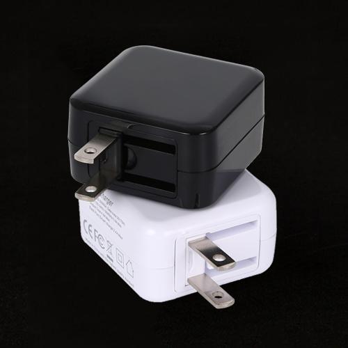 小体积双USB折叠脚旅行充电器5V 4.8A