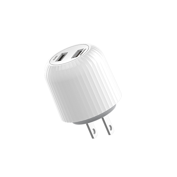 圆弧形双USB充电器(HN121)