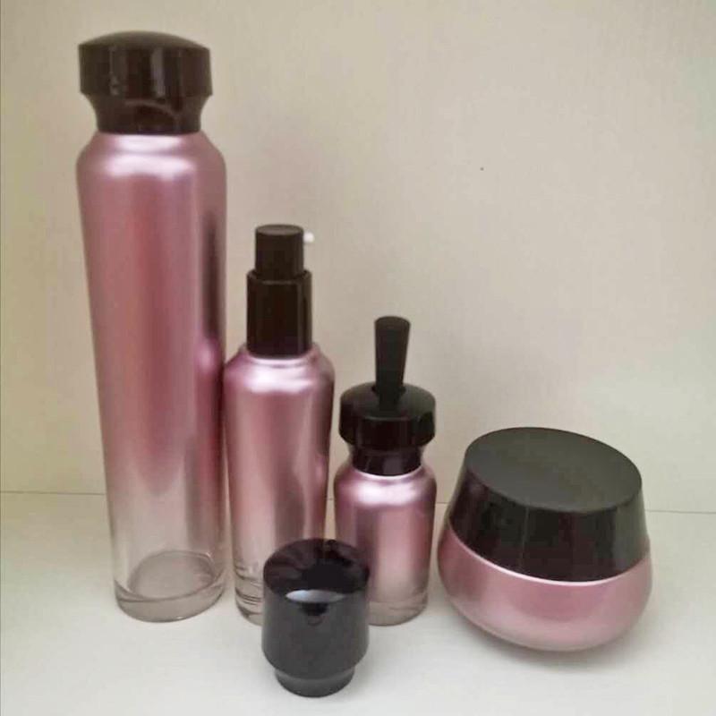 紫色_眼霜化妝品套裝瓶批發廠_鵬誠包材