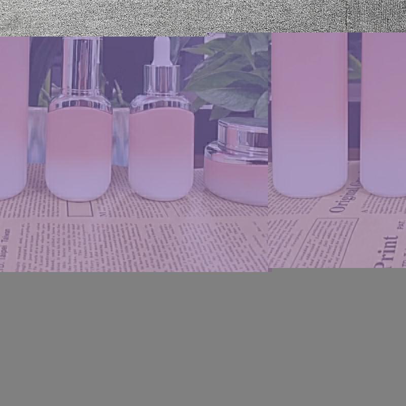 玻璃化妝品套裝瓶制造商_鵬誠包材_精華液_六角_紅石榴_營養液