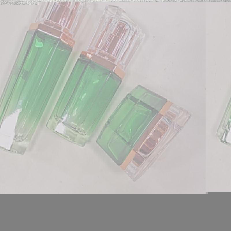 面霜化妝品套裝瓶供應廠家批發_鵬誠包材_紫色_玻璃_營養液