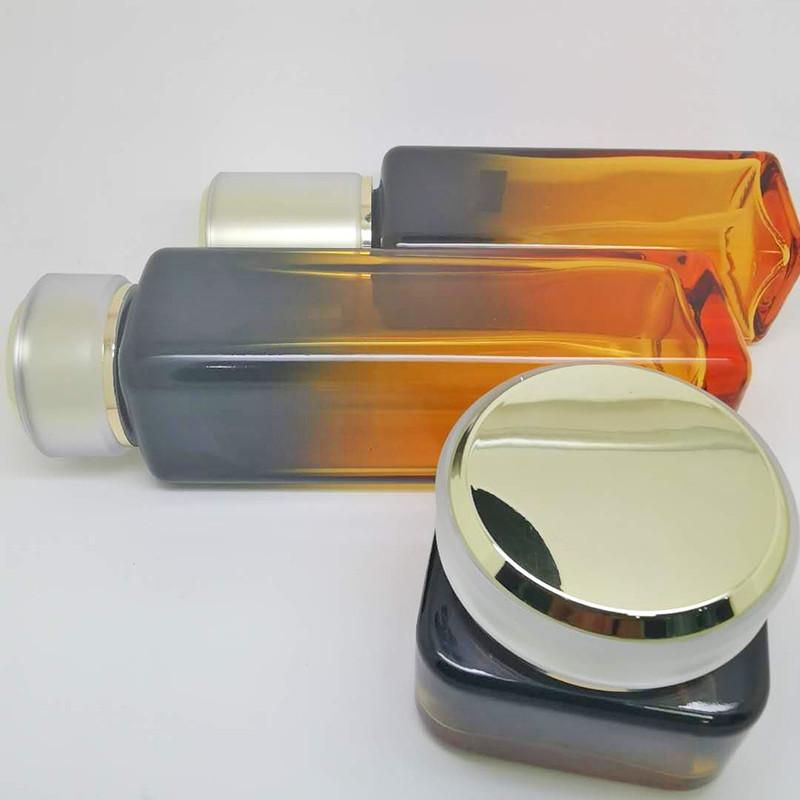 創意化妝品瓶批發商_鵬誠包材_紅石榴_面霜_營養液_玻璃_藍色
