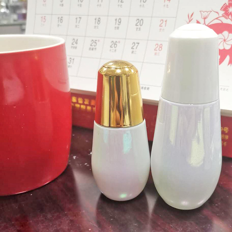 紫色化妝品瓶制造商_鵬誠包材_藍色_套裝_眼霜_男士_護膚乳