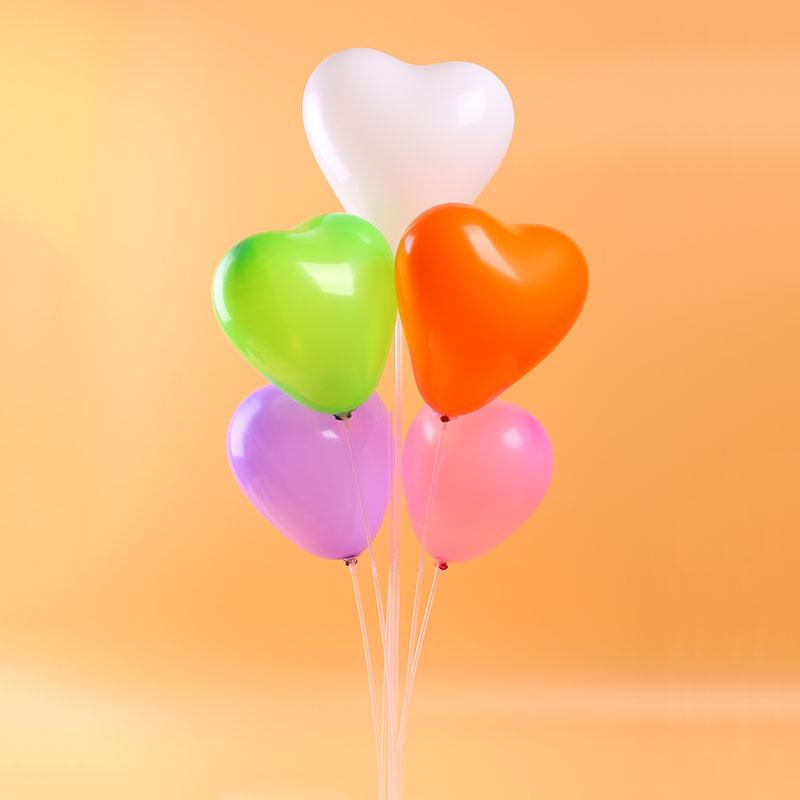 橡胶心形告白气球