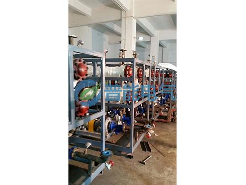 20台100千瓦电磁导热油炉生产中