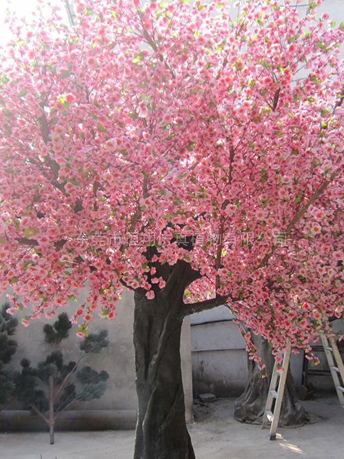 仿真桃花樹