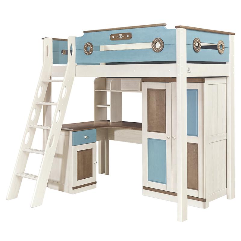 兒童房_實用半高床廠家生產銷售_龍辰家居