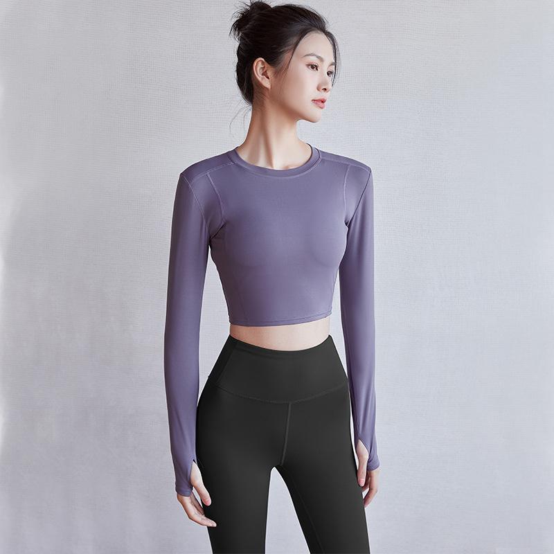 瑜伽紧身长袖