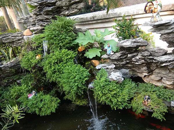 小型景观流水图片