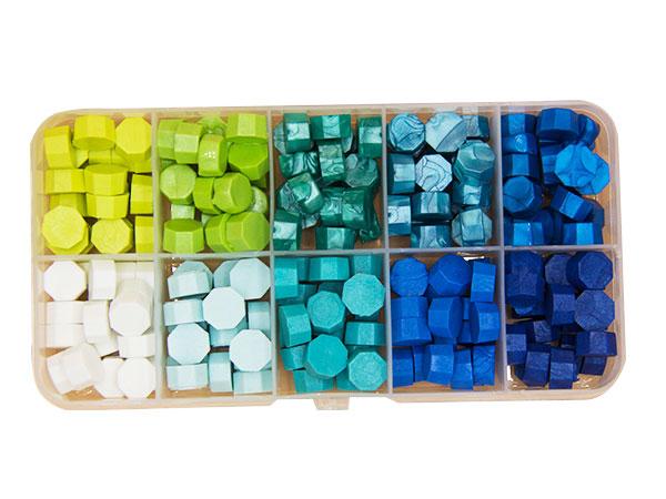 10色盒裝蠟粒