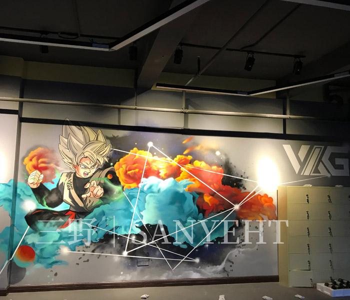 東莞東城創客谷項目—健身房涂鴉