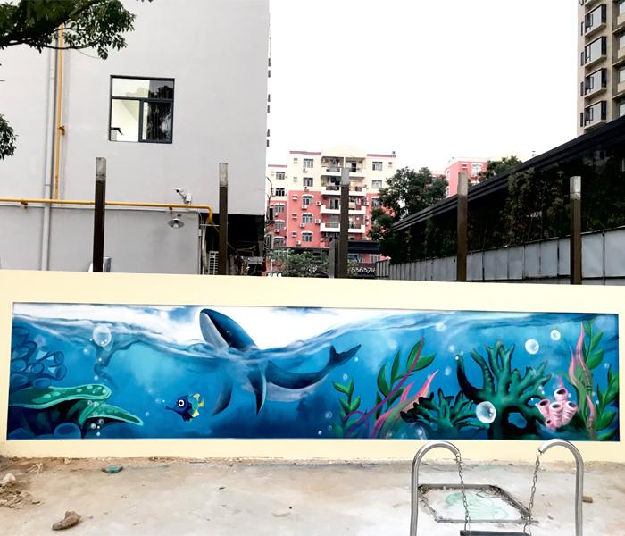 東莞黃江鎮小區項目—兒童活動區涂鴉