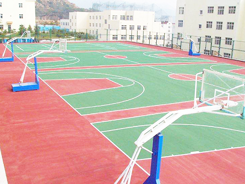 深圳PU篮球场地坪