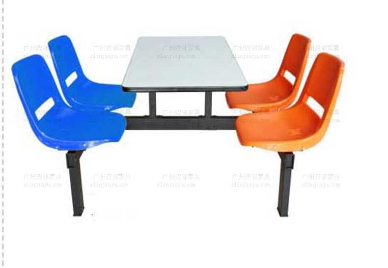 员工塑钢餐桌椅