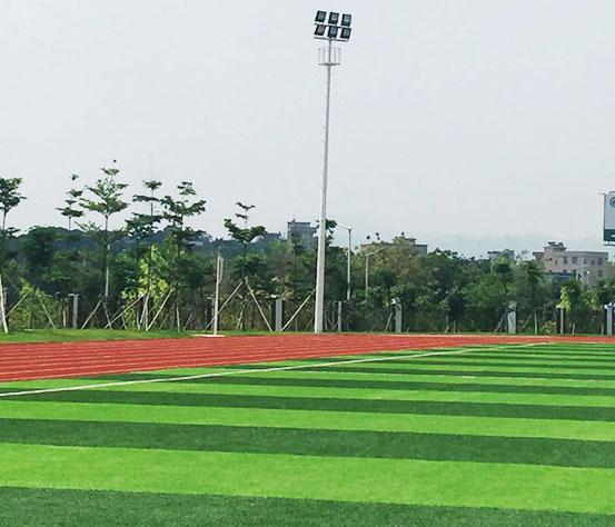人造草足球场灯光营造