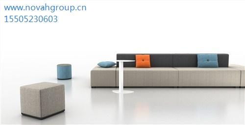 办公沙发生产商*苏州创意办公沙发设计*办公大厅沙发*诺梵供