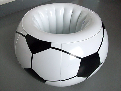 充氣足球坐墊