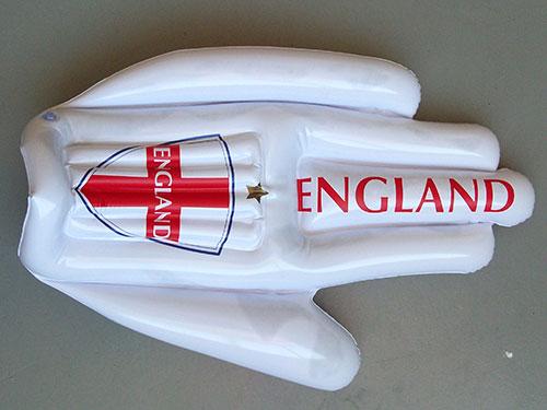 白色充氣手套