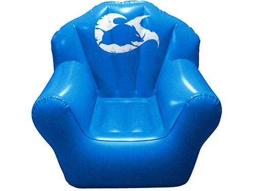 蓝色充气沙发