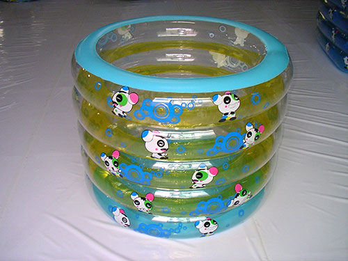 蓝黄双色充气浴盆
