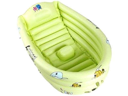 黄绿色充气浴盆