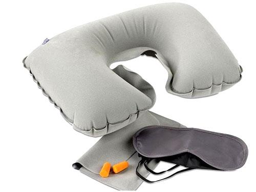 灰色VC植绒枕头套装