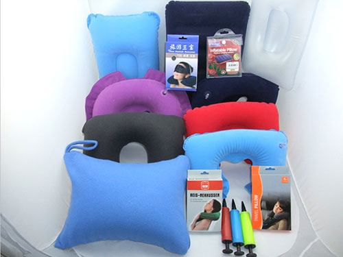 充气U型VC植绒枕头