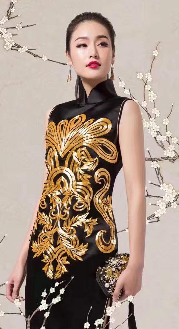 马克笔手绘旗袍