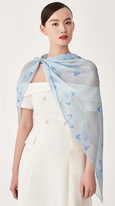 萬事利絲巾 蝴蝶夫人長巾
