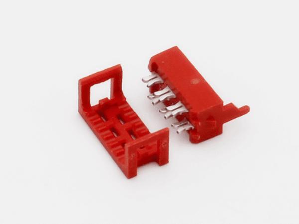 紅色IDC2.54mm二件套 IDC壓排線UL2651 線端連接器