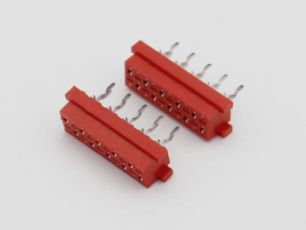 紅色IDC2.54mm 直插板端連接器