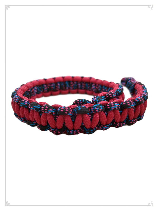 红色手袋编织手挽绳