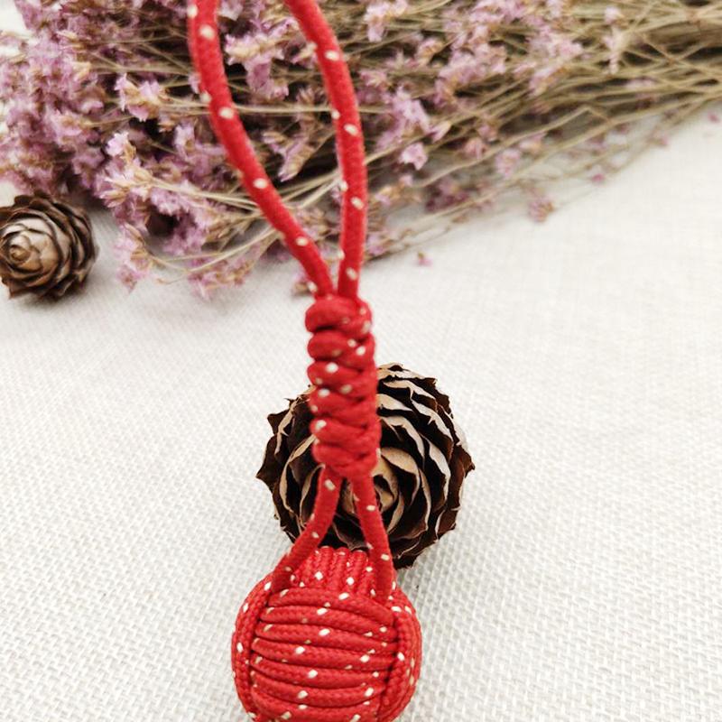 手鞠編織球銷售_飛嘉禮品_歐式_服裝_掛飾_手工_紅色_包包
