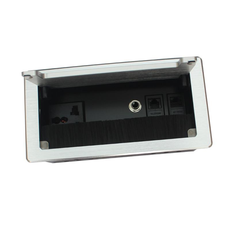 写字台翻盖插座生产加工_高森特五金_ABS塑料_1.8米线_美规