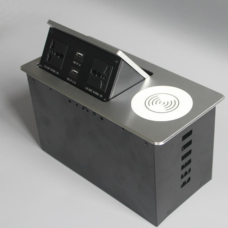強電彈起式插座生產_高森特五金_書桌_法規_強電_寫字臺