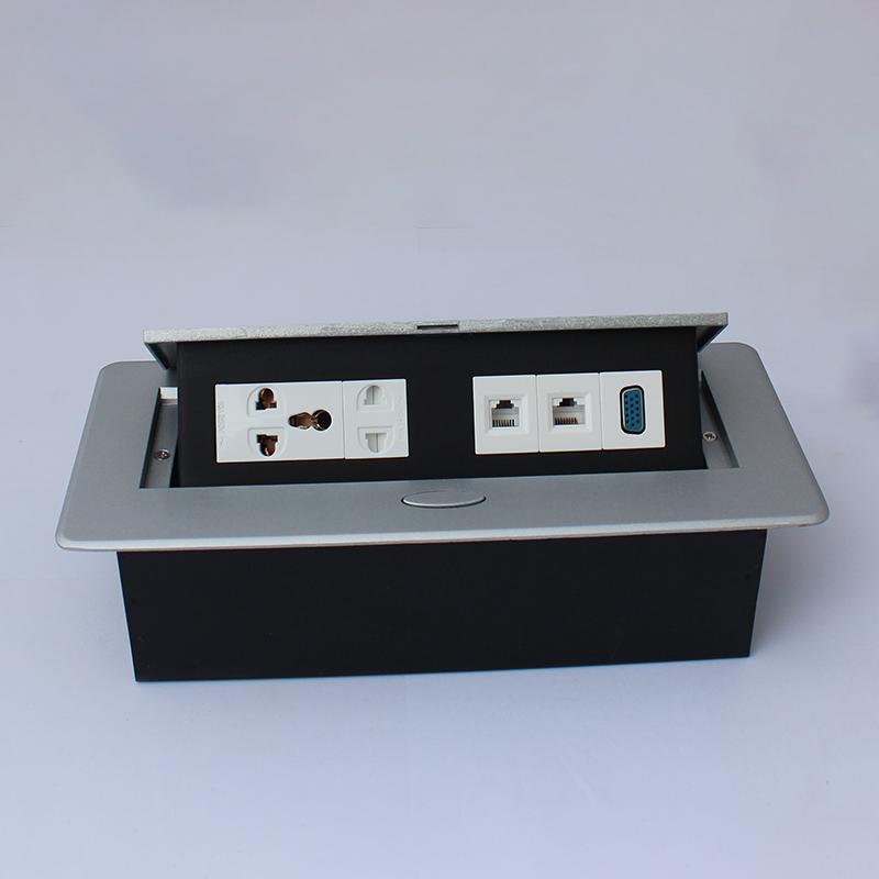 河北1.5米線金屬插座公司_高森特五金_桌面_暗裝_過線盒