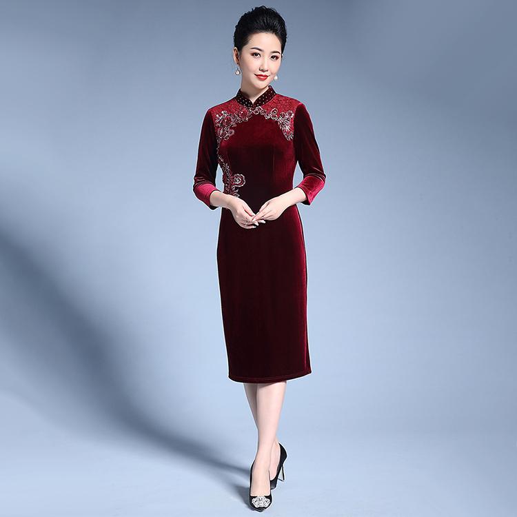 女性連衣裙品牌女裝_妙艷服裝_中老_羊毛_內搭_如何做_冬季