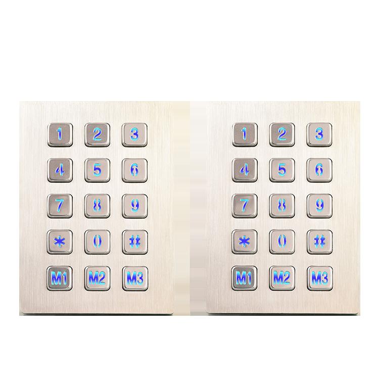科利华_江苏带触摸板鼠标一体式工业金属键盘批发商_法语_拉丝纹