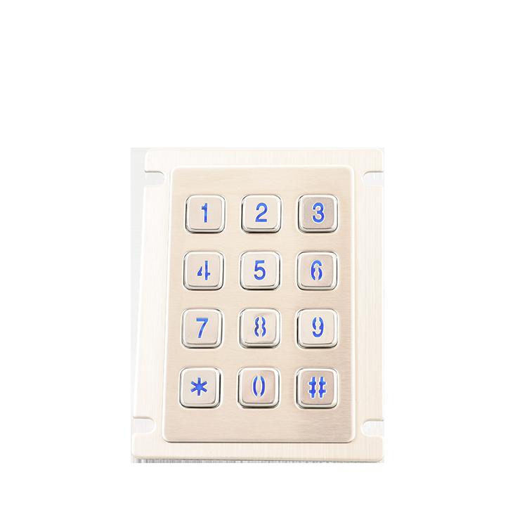 科利華_浙江帶觸摸板鼠標一體式工業金屬鍵盤價格