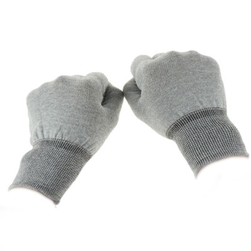 天津點塑防靜電手套哪里有賣_愛達康_工業_冬季_藍色_電子廠