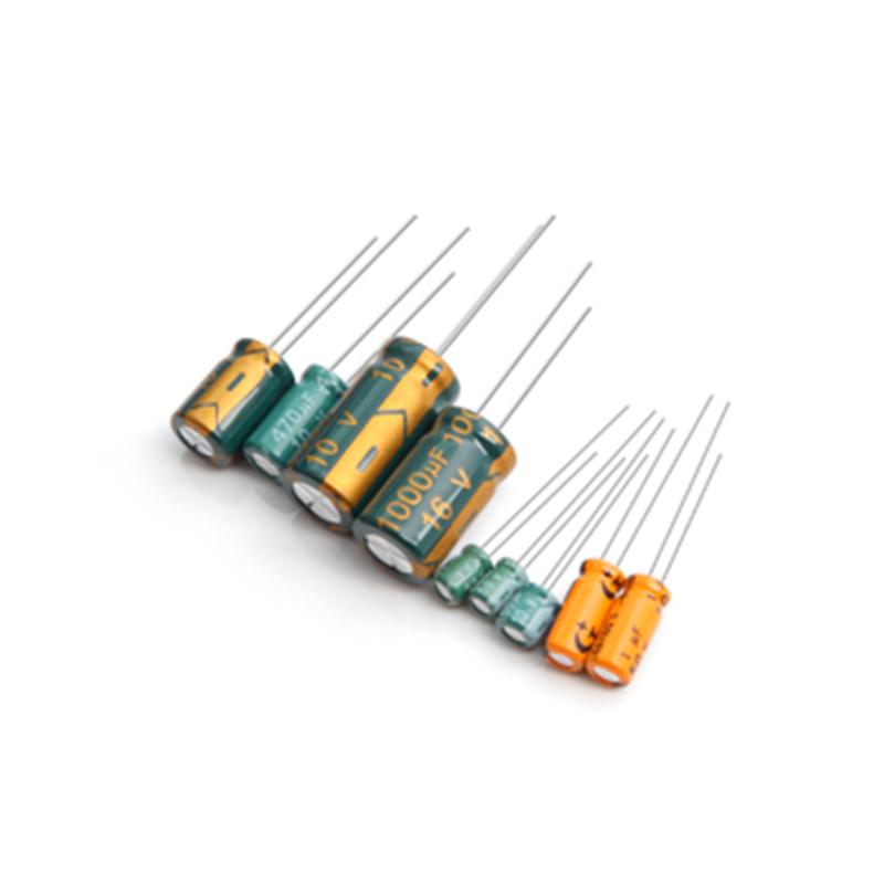 環保鋁鋁電解電容供應商_天罡星_高頻_插件_混合鋁_工業級
