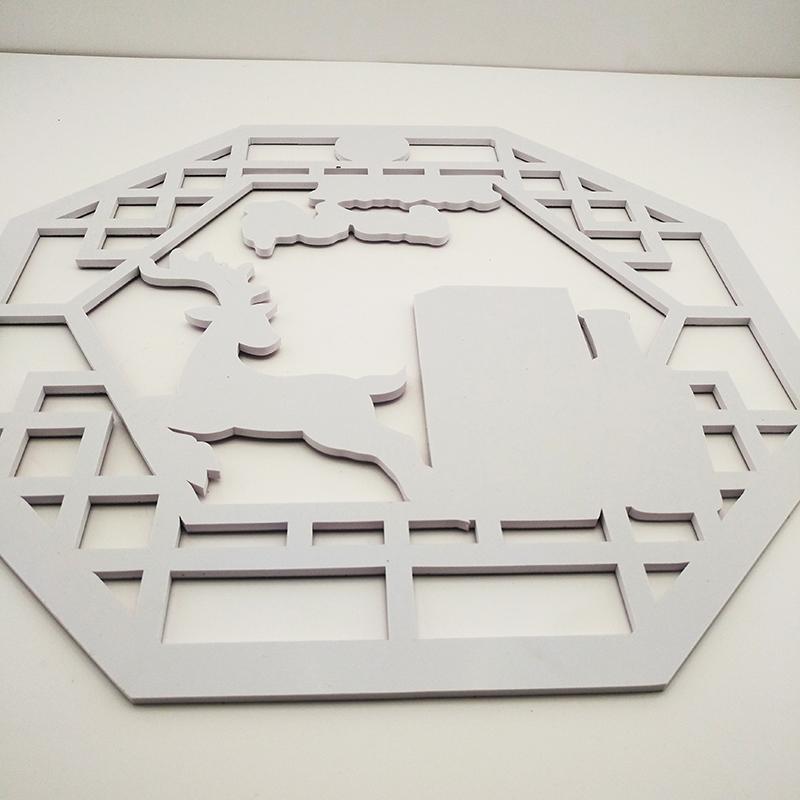 公司PVC板墻貼有哪些_任意門設計_大型_藝術_臥室_彩色_綠色